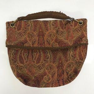 Zara Tapestry Hobo Bag